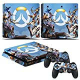 Cheap EBTY-Dreams Inc. – Sony Playstation 4 Slim (PS4 Slim) – Overwatch Heroes Tracer Winston Reinhardt Pharah Reaper Bastion Hanzo Torbjorn Widowmaker Mercy Symmetra Zenyatta Vinyl Skin Sticker Decal