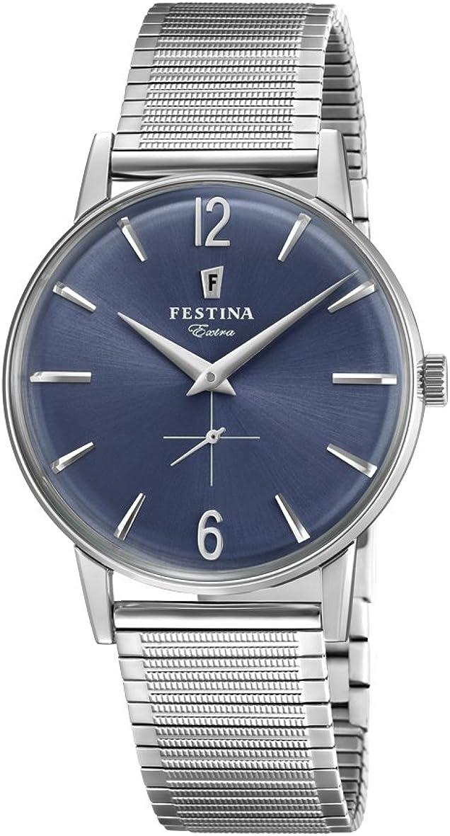Festina Reloj Análogo clásico para Hombre de Cuarzo con Correa en Acero Inoxidable F20250/3