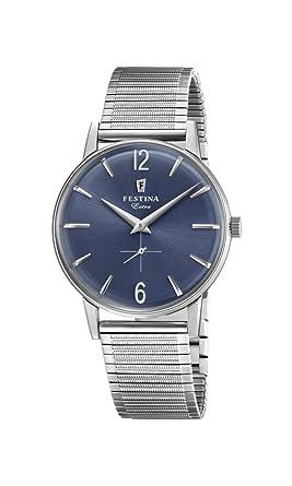 Festina Reloj Análogo clásico para Hombre de Cuarzo con Correa en Acero Inoxidable F20250/3: Festina: Amazon.es: Relojes