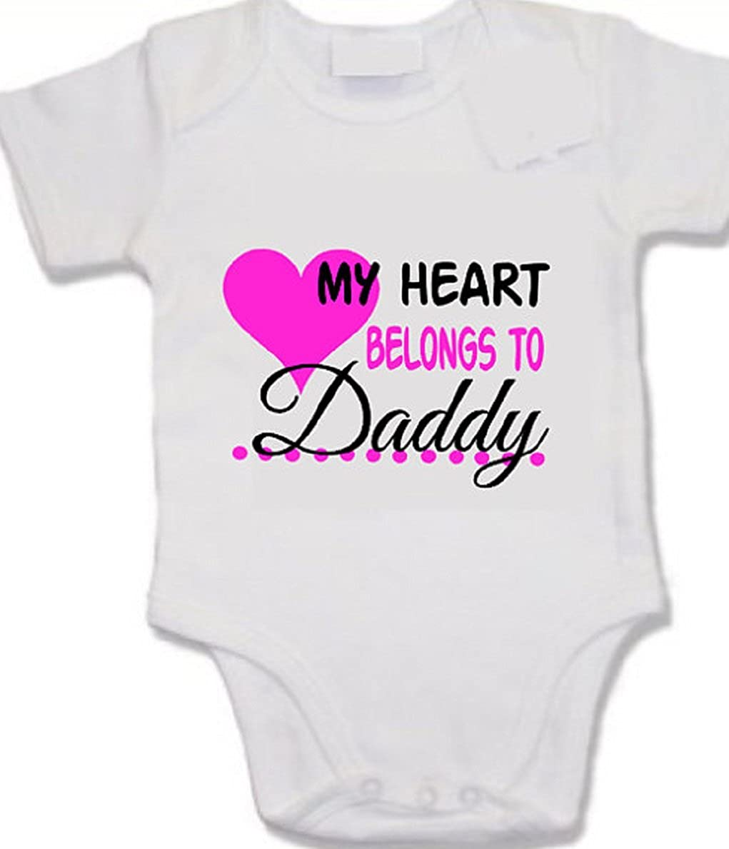 My heart belongs to Daddy print baby vest valentine's day first valentine cute daddy's girl