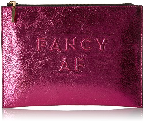 MILLY Metallic Leather Debossed Fancy Af Clutch by MILLY