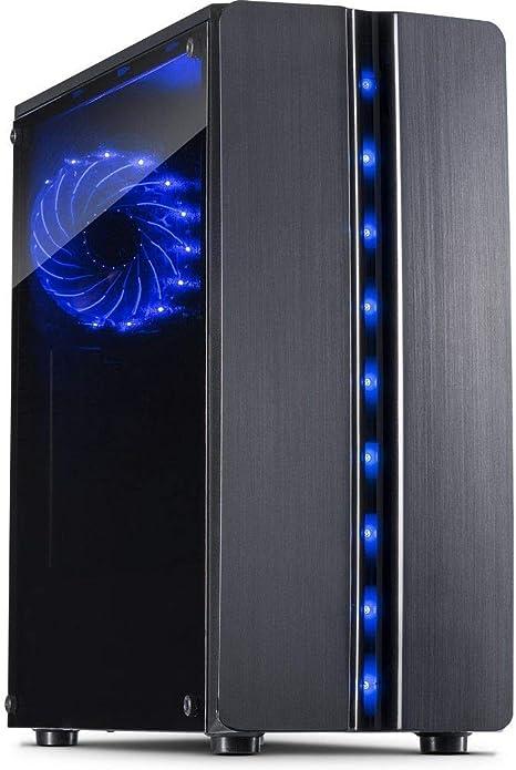 Inter-Tech 88881309 Carcasa de Ordenador ITX-Tower Negro - Caja de Ordenador (ITX-Tower, PC, Negro, ATX,ITX,uATX, Hogar/Oficina, Azul): Amazon.es: Informática