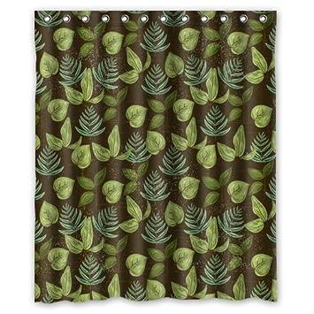 Singen Badezimmer dunkelgrüne Blätter zurückhaltenden ...