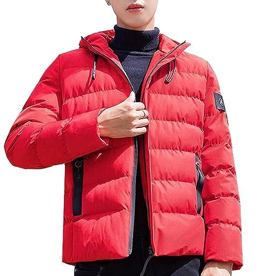 MK988 Mens Winter Thicken Hoodie Down Quilted Jacket Coat Outwear