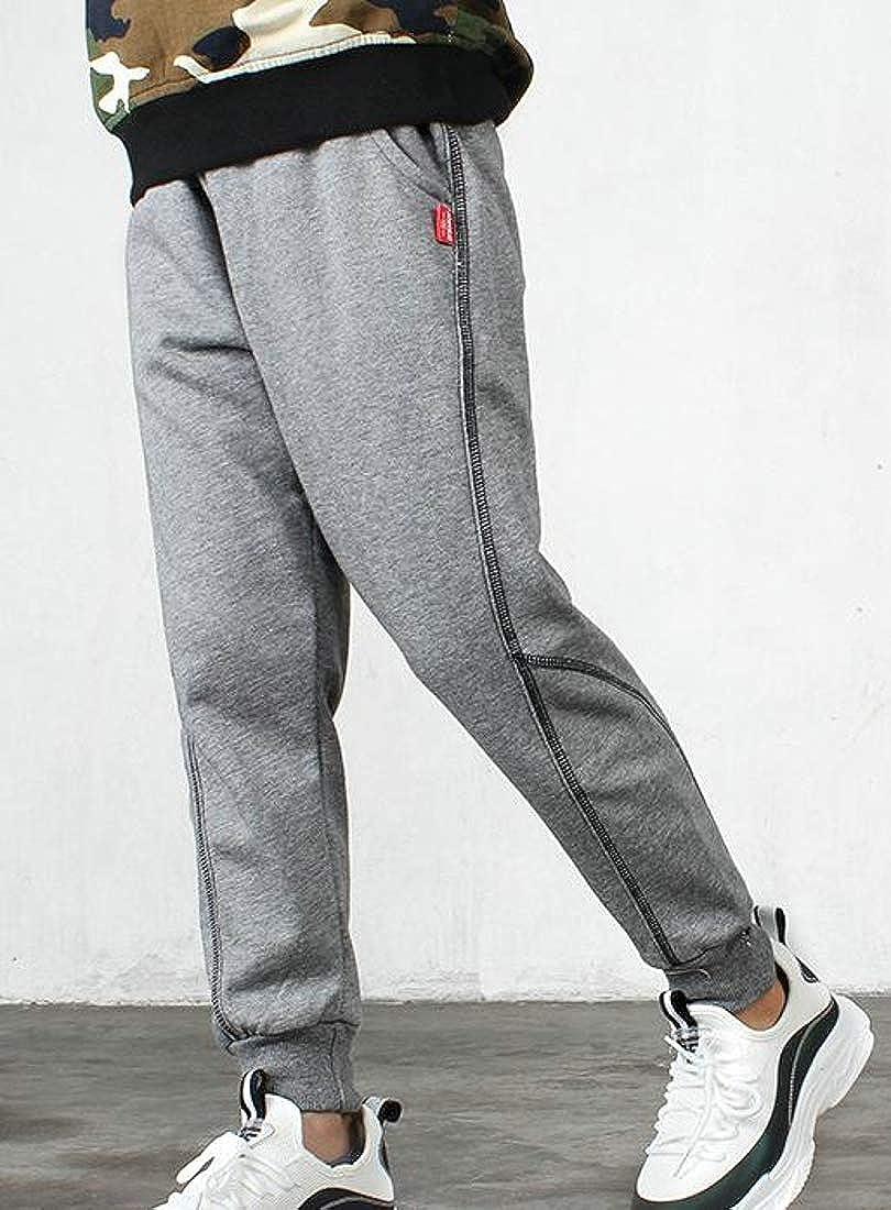 Bigbarry Big Boys Stitching Elastic Waist Cotton Casual Sport Pants
