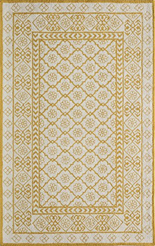 Momeni Rugs  Newport Collection Hand Tufted Loop Cut Contemporary Area Rug, 8' x 10', Gold
