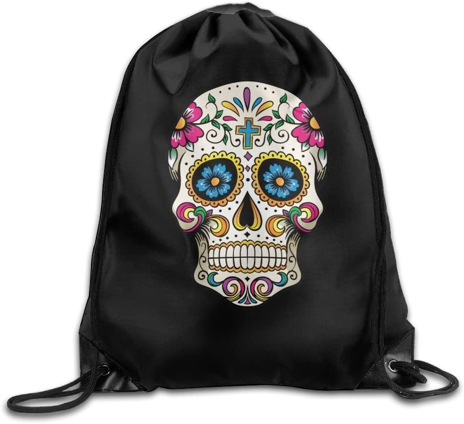 Polyester Sports Bag,Net Red Part,Mens Handbag,Ladies,Teenager,Adult,Outdoor Work,Office,Lunch Box MissMr Dead Sugar Skull Belt Sports Backpack,Fashion Trend