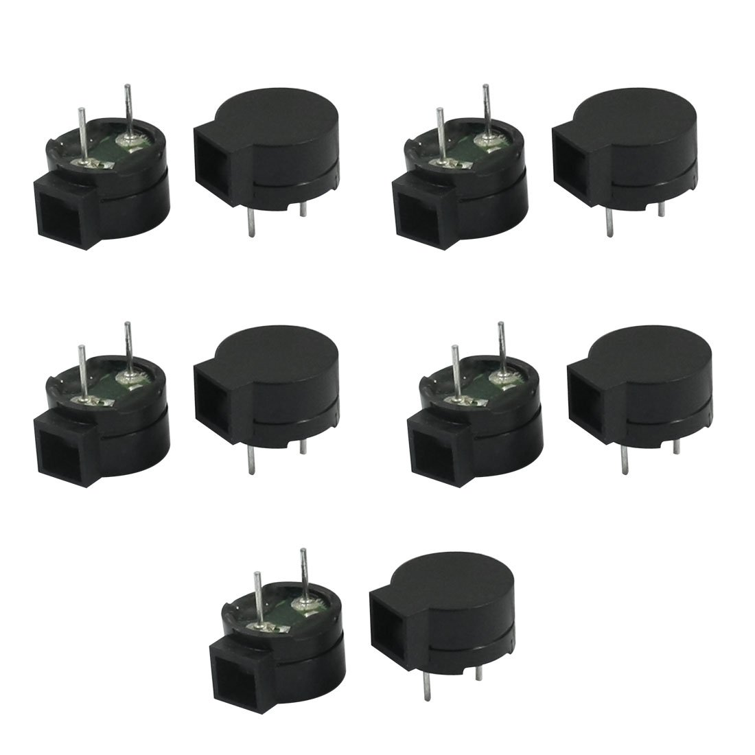 Aexit 10PCS 42 Security & Surveillance Ohm Two Terminals Passive 85dB Side Sound Horns & Sirens Electronic Buzzer
