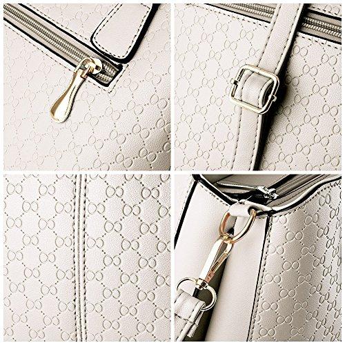 Asa Del De Las Crossbody Blanco Del De Asas Bolsa Hombro Hobo Mujeres Suave De Cuero Bolso Superior Para Blanco 7RqnWw8BB