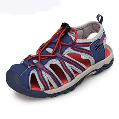 f70a73be8ce U-MAC Boys Girls Sport Water Sandals Summer Closed-Toe Athletic Kids Shoes(