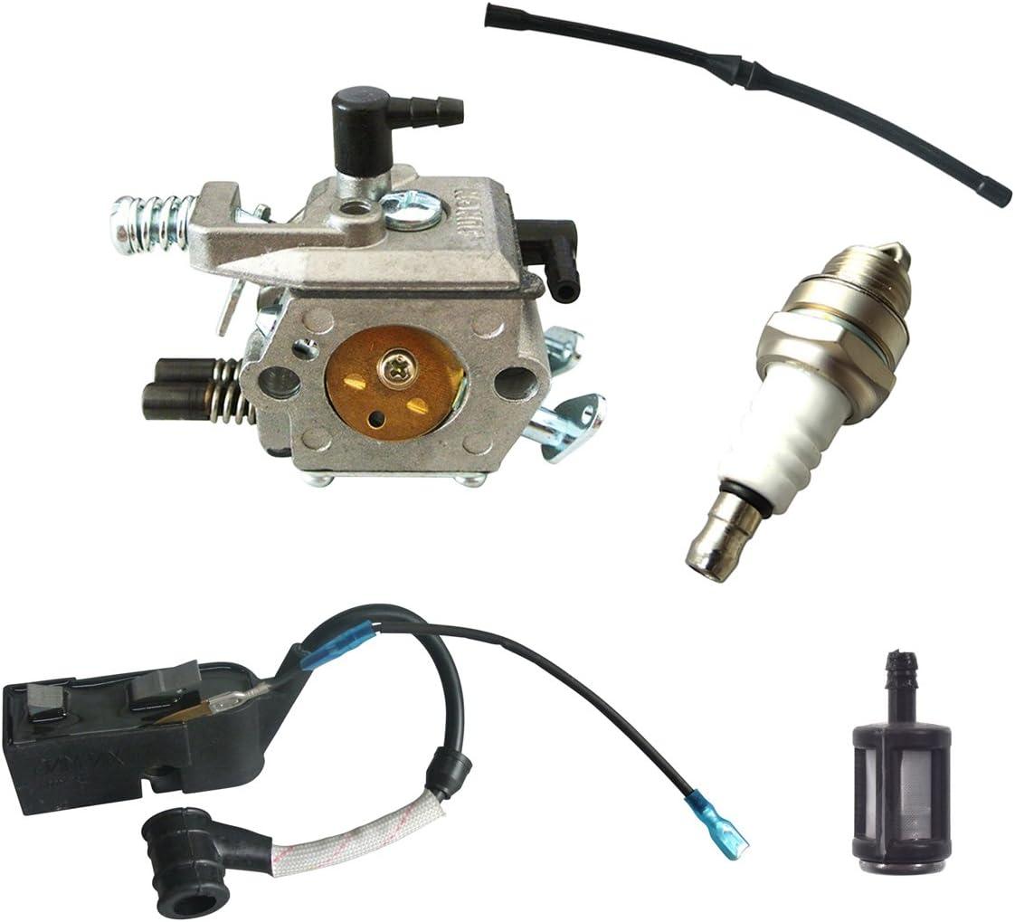 jrl Bobina de encendido para carburador Kit de filtros de combustible ajuste chino motosierra 45cc 52cc 58cc