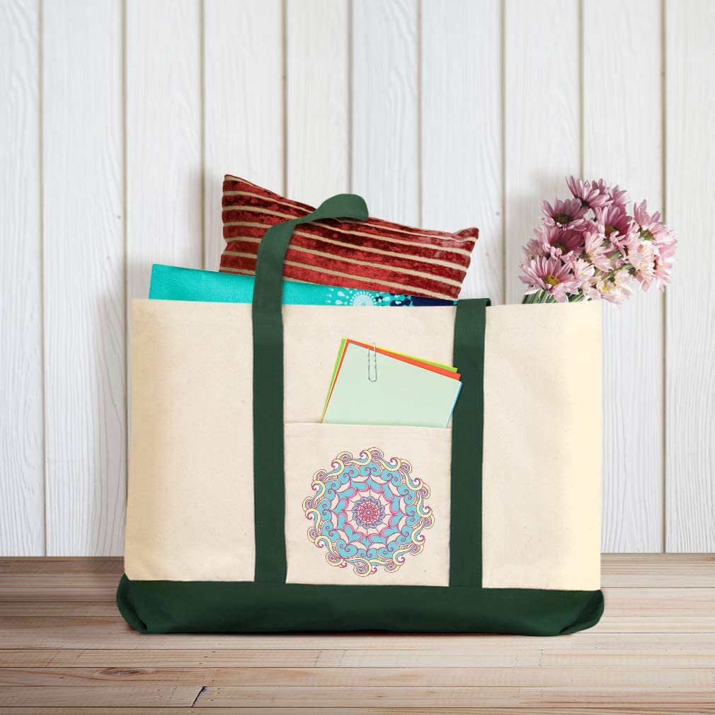 Canvas Shopping Tote Bag Ornaments Vintage Look Bb Holidays and Occasions Christmas Beach for Women