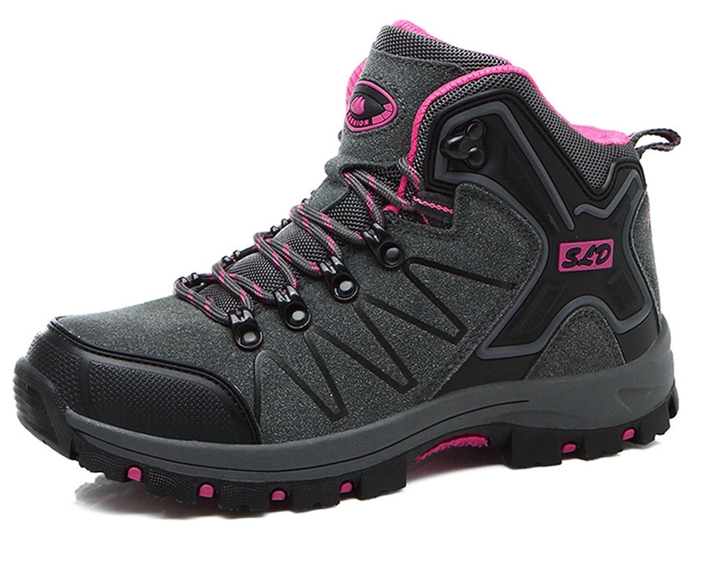 DADAWEN Unisex Couples Men's Women's Outdoor Waterproof Trekking Hiking Boots