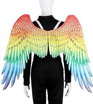 SELMAL Alas de ángel, Alas de Disfraz Moda Arcoíris Color Alas de ...