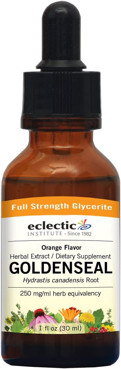 Eclectic Goldenseal with Vitamin C Glycerite, Orange, 1 Fluid Ounce
