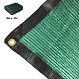 Didaoffle 70% Sunblock Shade Net Green UV Resistant, Premium Mesh Tarp, Top Shade Cloth Quality Panel for Garden, Flowers, Plants, Patio Lawn, Customized Sizes Available (12ft x 20ft)