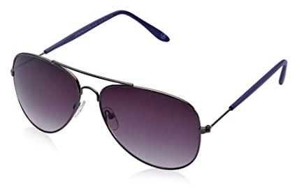 Joe Black Aviator Sunglasses (Gunmetal and Blue) (JB-607|C4|57) Men's Sunglasses at amazon