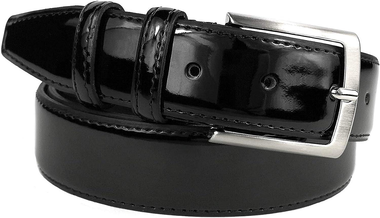 disponible en diferentes colores y tama/ños MYB Cintur/ón cl/ásico de charol para hombre Made In Italy 35 mm