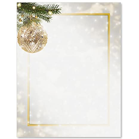 graphic about Printable Border called Golden Glitz Printable Border Papers, 8.5 x 11, 100 Depend