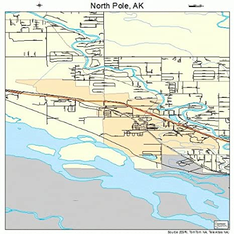 Amazon Com Large Street Road Map Of North Pole Alaska Ak