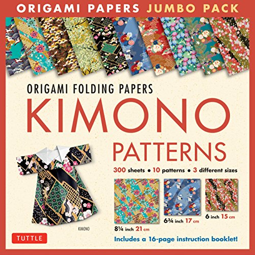 Origami Folding Papers Jumbo Pack: Kimono Patterns: 300 High-Quality Origami Papers in 3 Sizes (6 inch; 6 3/4 inch and 8 1/4 inch) and a 16-page Instructional Origami ()