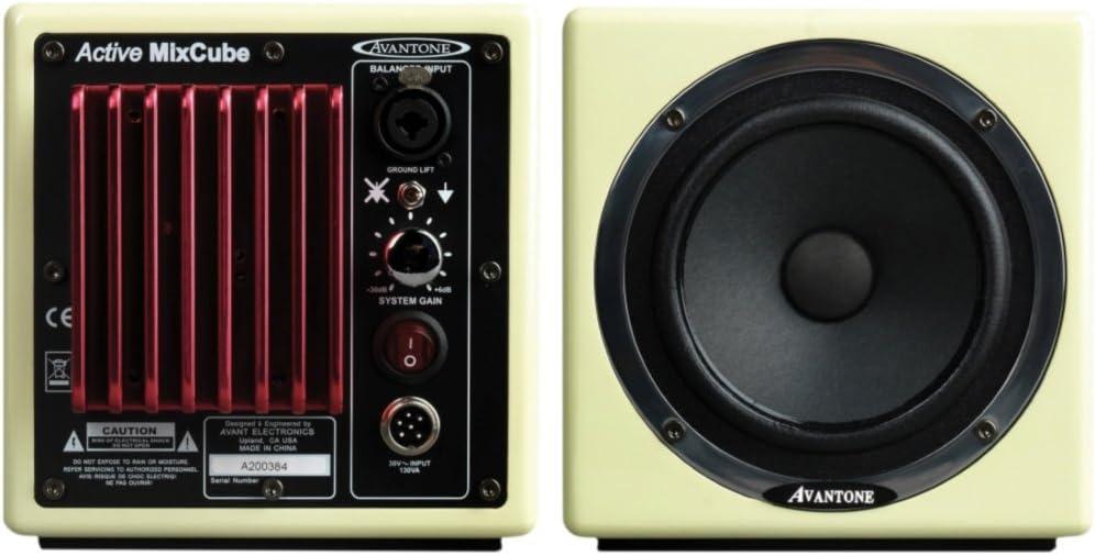 Avantone Active MixCube Powered Full-Range Mini Reference Monitors - Creme, Pair