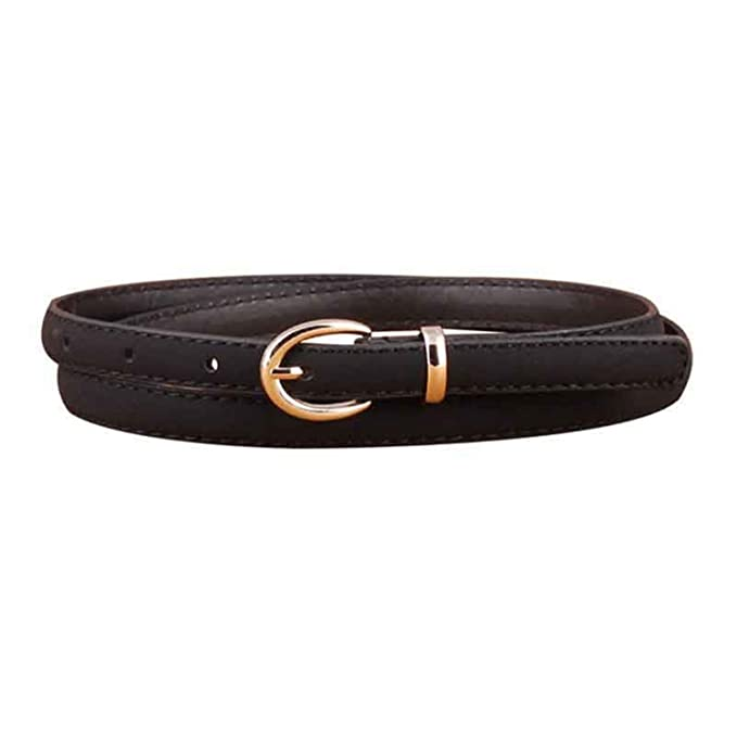 001deb67c Cheryl Bull Nice Women Belt Thin Pu Leather Belt Female Waist Belts for Women  Dress Strap Black at Amazon Women's Clothing store: