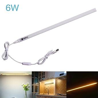 Ryham LED Unterbauleuchte |26cm | Warmweiß | LED Lichtleiste 6W ...