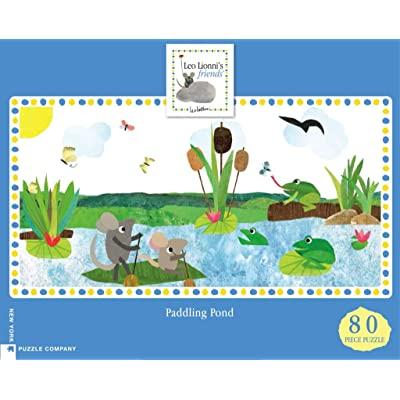 New York Puzzle Company - Leo Lionni Paddling Pond - 80 Piece Jigsaw Puzzle: Toys & Games