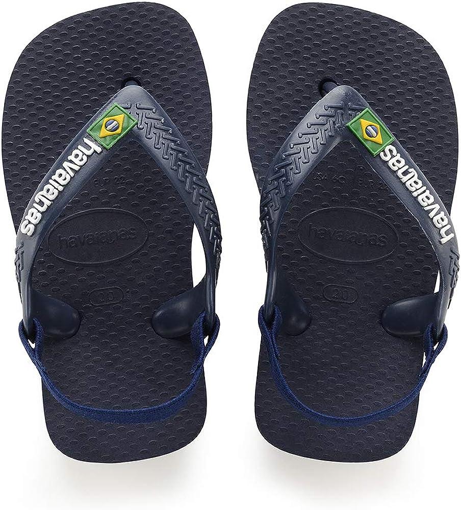 Havaianas Baby Brasil Logo II Marine Blue Rubber Baby Flip Flops