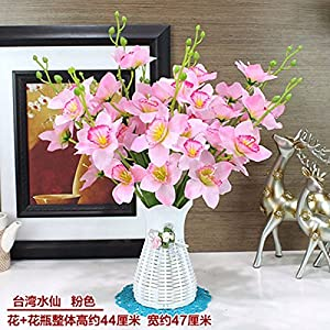GBHNJ Artificial Flower Sets Pu Silk Flower Narcissus Pink 72