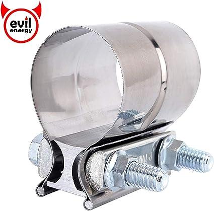 Conector de Tubo de escape Evil Energy 4 pulgadas abrazadera de escape acero inoxidable Lap Joint