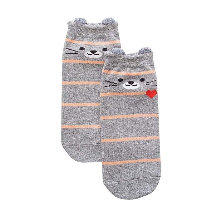 BHYDRY 1 par de calcetines de algodón de las mujeres animales calcetines de invierno: Amazon.es: Ropa y accesorios