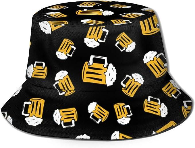 Sun Hat Unisex Leisure Sunscreen Bucket Hat. Cartoon Seagull Ship Lighthouse Camping Hiking Fisherman Hat