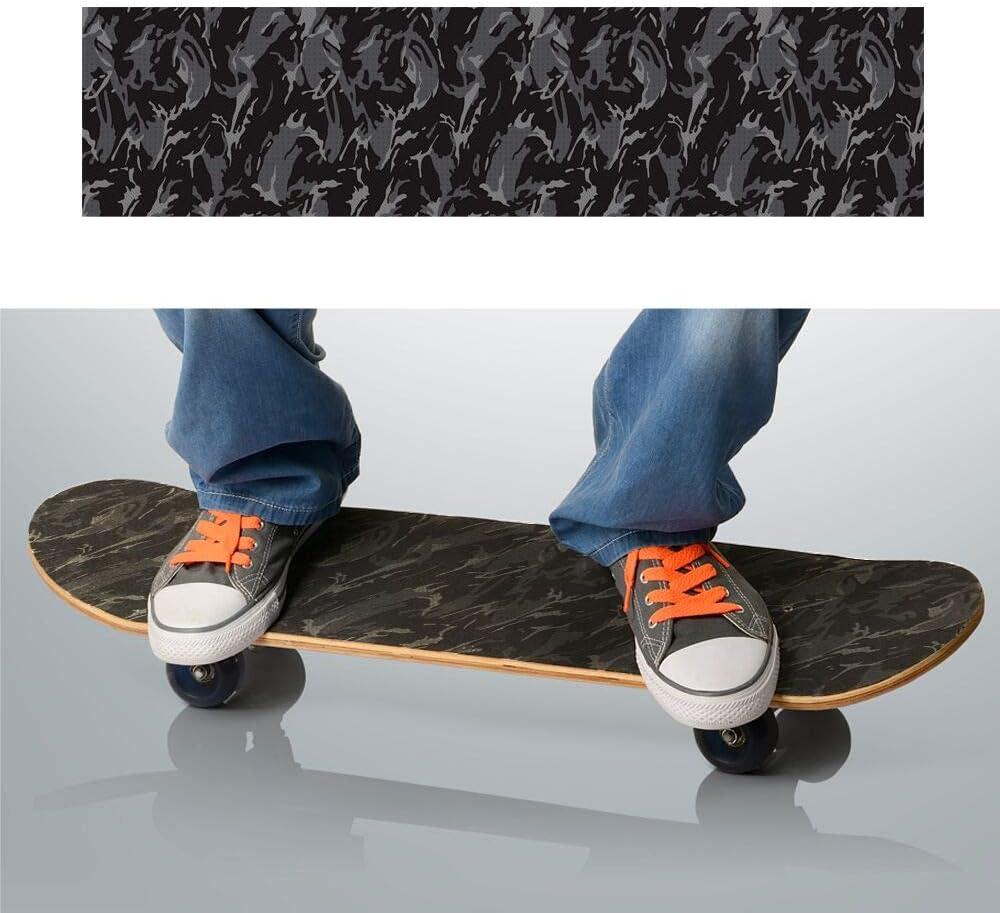 Sul Skateboard Carta Vetrata Grip Tavola Nastro Nero Attacco Adesivo