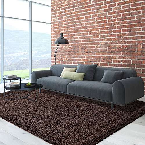 iCustomRug Cozy Soft & Plush Pile, 5'0In x 7'0In ( 5X7 ) Shag Area Rug in 5'x7', Chocolate Brown