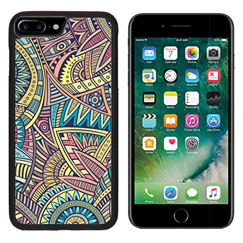 (Luxlady Apple iPhone 8 Plus Case Aluminum Backplate Bumper Snap iphone8 Plus Cases Image ID: 37632601 Abstract Vintage Deco Vector Tribal Ethnic Background)
