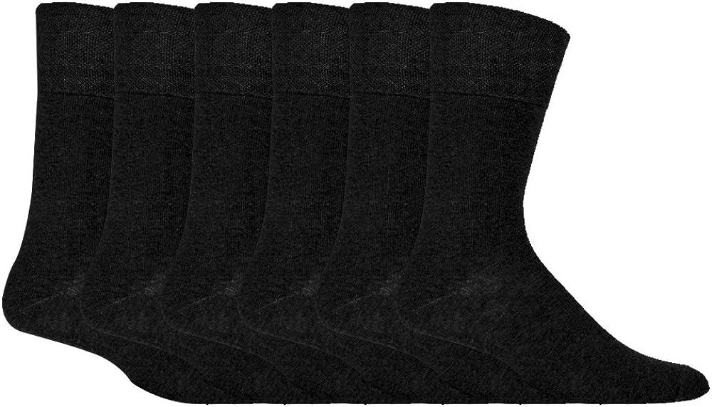 IOMI - 6 pares hombre sin elasticos diabeticos calcetines para la circulacion