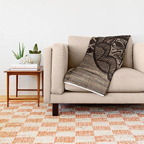 Society6 Wood Rhino Black 88'' x 104'' Blanket by Society6 (Image #1)