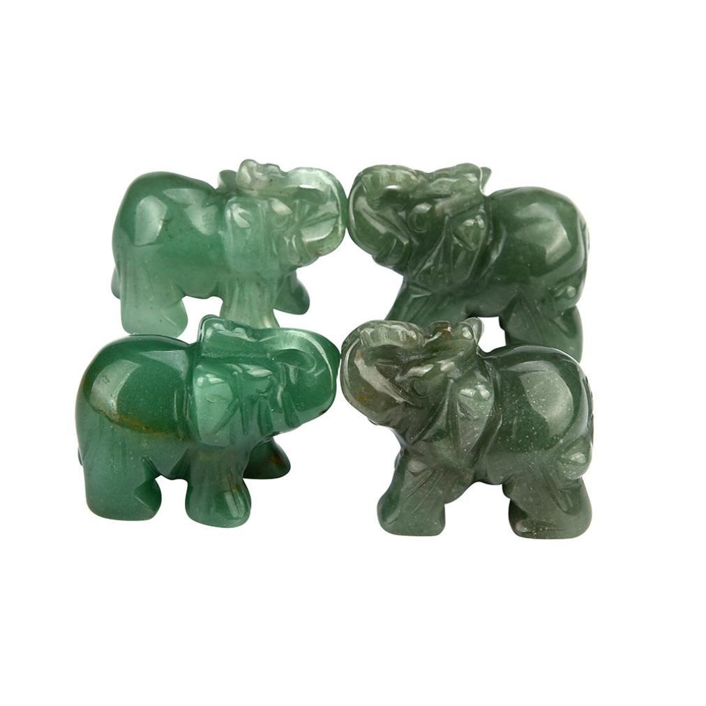 Hand Carved Jade elephant (37*30x20mm),Mamum 1Pcs Hand Carved Elephant Jade Gemstone Ornament Craft Paperweight