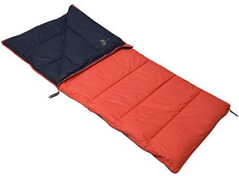 POLY daun techo saco de dormir infantil Pelikan Rojo/Azul 70 x 160 cm Reversible