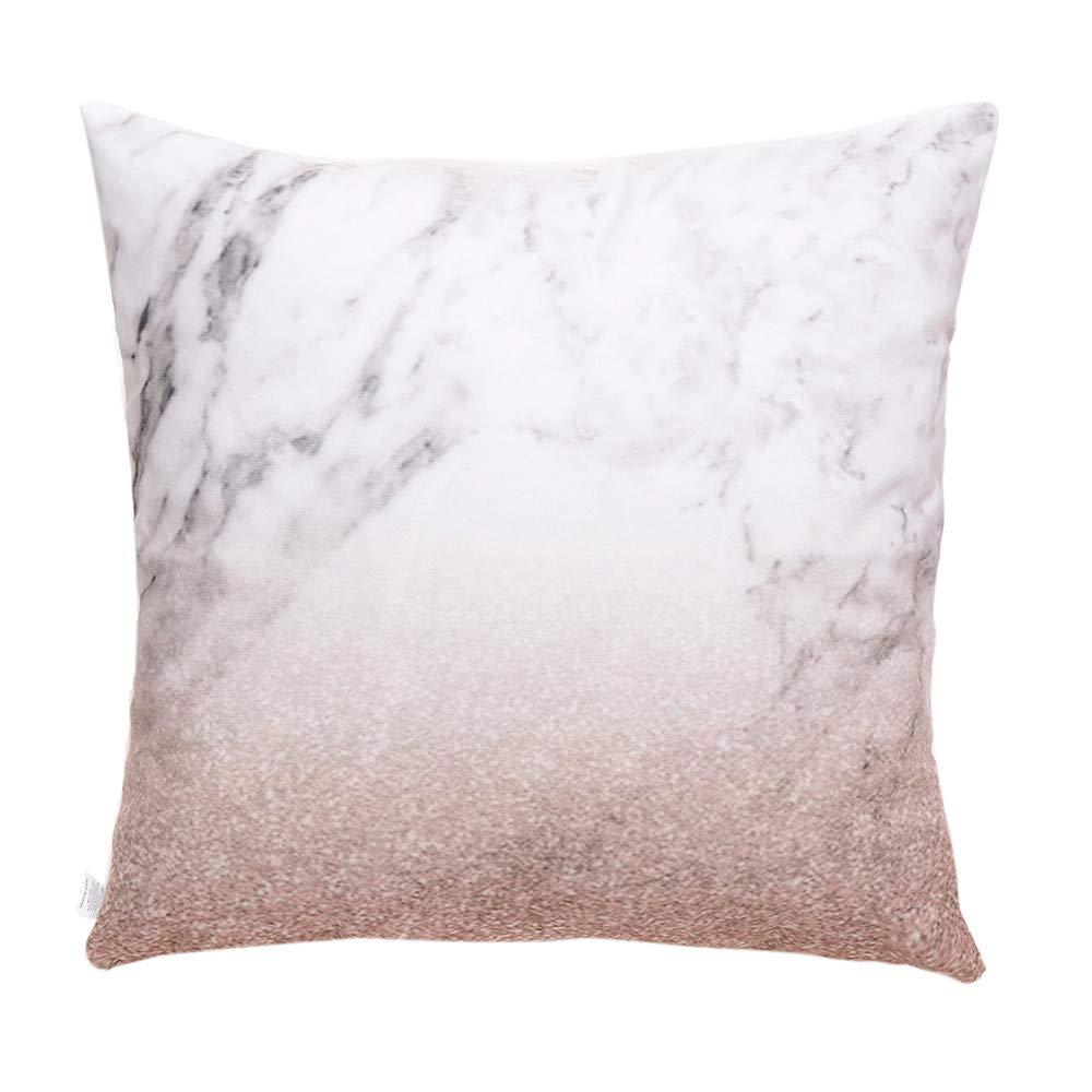 Hongxin Pillow Case,1PC 45×45cm Flannel Simple Upholstery Cushion Cover Flannelette Throw Pillow Cases Home Decor (B, 45×45cm)