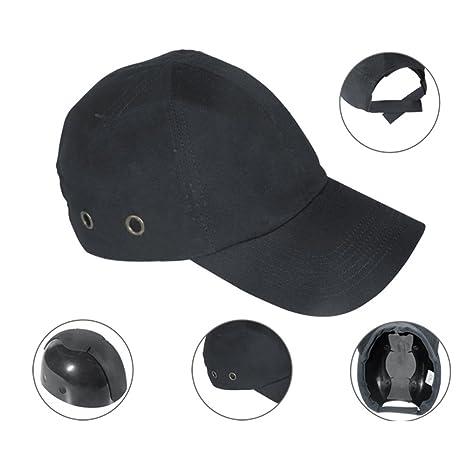 Zinnor Baseball Bump Cap Lightweight Safety Hard Hat Head Protection Cap  Adjustable Protective Hat (Black) - - Amazon.com 48b7e3cfd978