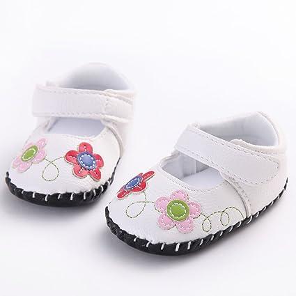 waylongplus bebé recién nacido Cute flores piel sintética ...