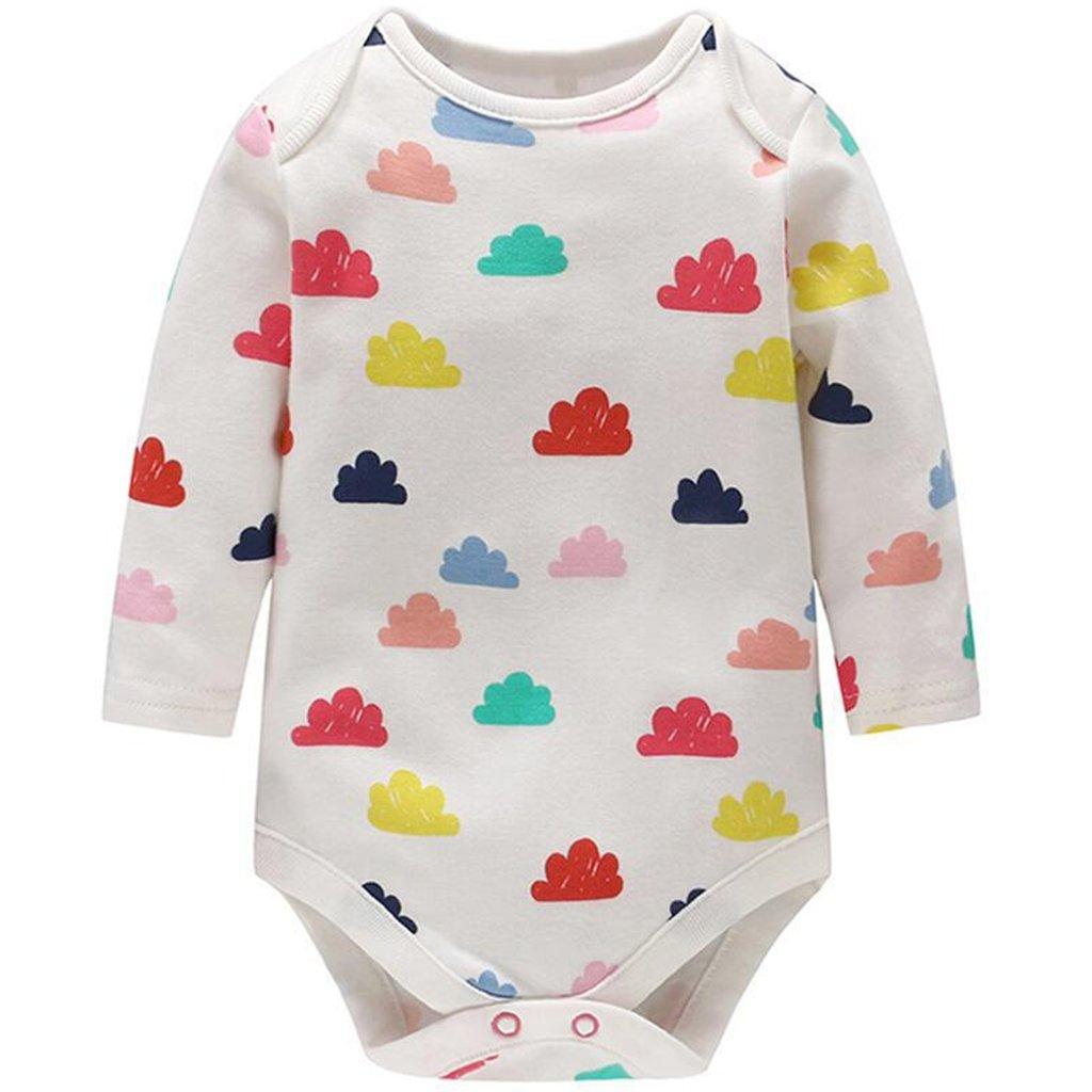 Bébé Bodys à Manches Longues, Pyjama Filles Garçons Grenouillères en Coton