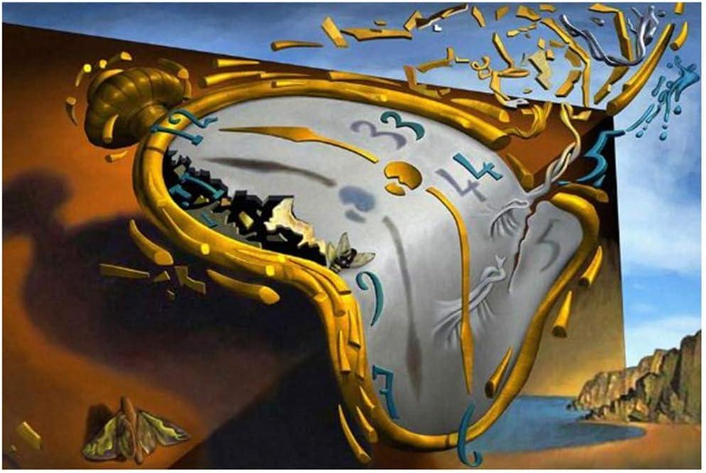 wzgsffs Salvador Dali La persistencia de la Memoria Pinturas sobre Lienzo en la Pared Carteles de Arte Impresiones Cuadros de Arte Famosos Decoración de Pared -24x32 Pulgadas Sin Marco