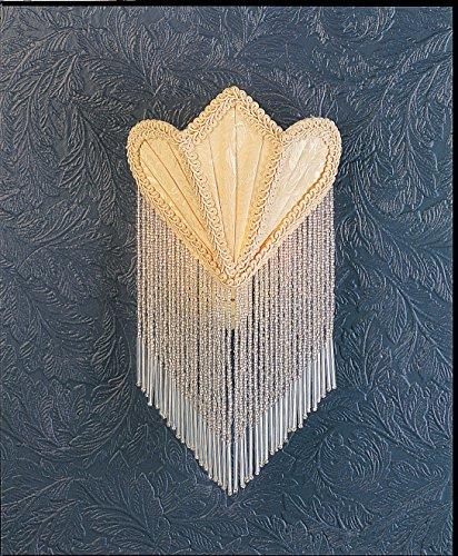 "UPC 705696143955, Meyda Tiffany 14395 Fabric & Fringe Fan Night Light, 11"" Height, Ivory"