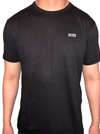 4fbfb608f Hugo Boss Green Label Crew Neck Short Sleeve Cotton T-Shirt (Small, Black