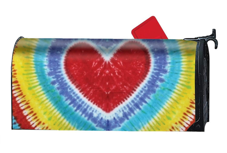 947326972573 Amazon.com  WilBstrn Rainbow Heart Tie-Dye Custom Mailbox Covers Magnetic  Mailbox Wrap 9