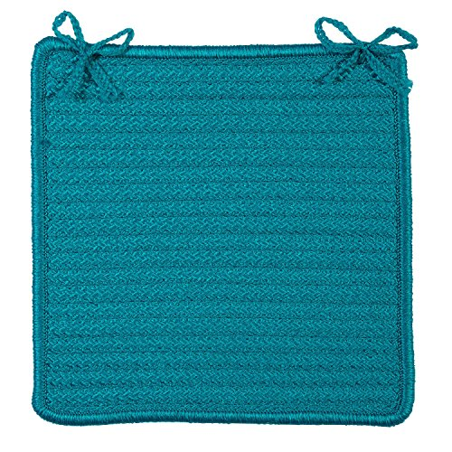 49 Chair Pad, 15 by 15-Inch, Turquoise, 4-Pack ()